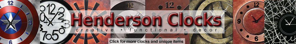 Henderson Modern Art Wall Clocks